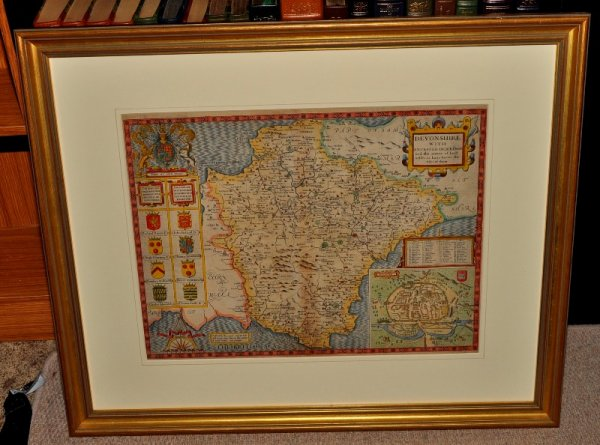 Image for AN ORIGINAL ENGRAVED HAND-COLOURED MAP OF DEVONSHIRE.