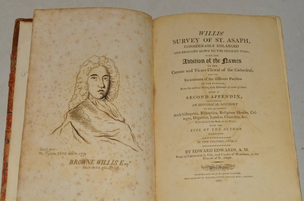 Image for Willis' Survey of St. Asaph, Considerably Enlarged and Brought Down to the Present Time; With the Addition of the Names of the Canons and Vicars Choral of the Cathedral; and the incumbents of the different parishes in the discese from the earliest dates with some memoirs... A Second Appendix... A Historical Acocount... and Life of the Author, Prefixed. In Two Volumes.