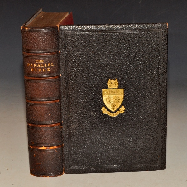 Image for The Parallel Bible. The Holy Bible Containing the Old and New Testaments, Translated out of the Original Tongues; Being the Authorised Version Arranged in Parallel columns with the Revised Version. Printed fro the Universities of Oxford and Cambridge.
