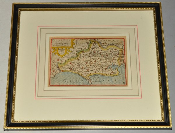 "Image for AN ORIGINAL ENGRAVED MAP OF DORSETSHIRE ( Dorset ). So called ""Mini Speed""."