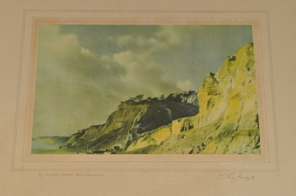 Image for Four Colour Prints, Views of Bournemouth. Original Antique Colour Photographic Prints.