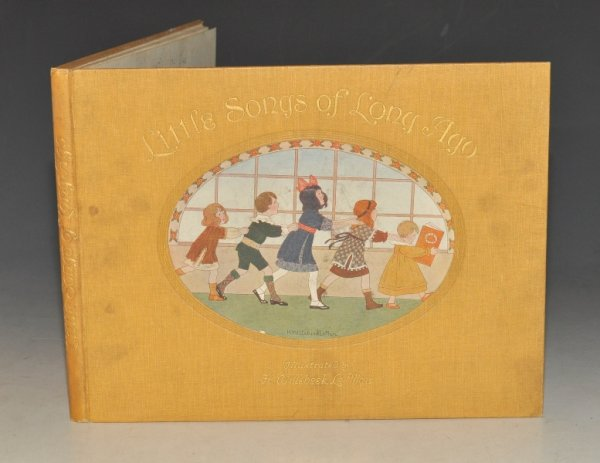"Image for Little Songs of Long Ago. ""More Nursery Rhymes"". The original Tunes Harmonized by ALFRED MOFFAT. Illustrated by H. Willebeek Le Mair."