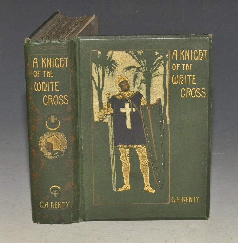 A Knight of The White Cross. A Tale of The Siege of Rhodes. With twelve illustrations by Ralph Peacock and a plan.