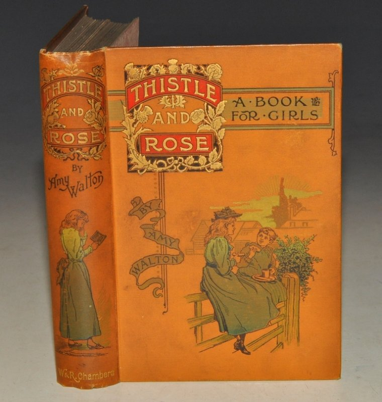 Image for Thistle and Rose. A Story of for Girls. With Four Illustrations by R. Barnes.