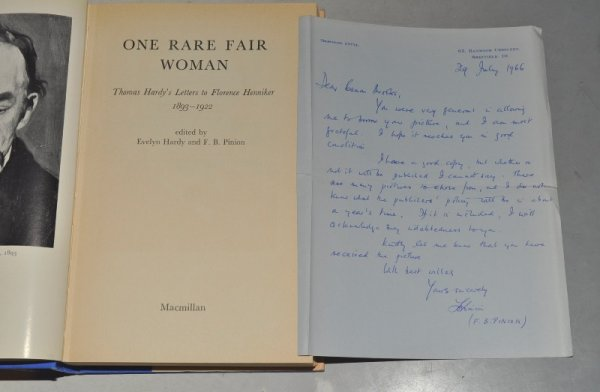 Image for One Rare Fair Woman. Thomas Hardy's letters to Florence Henniker. 1893 - 1922.