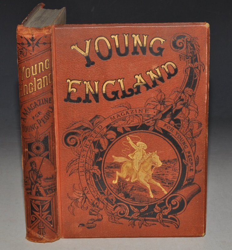"Image for ""Half-Hours with Some of Our Writers: George A.Henty. In: YOUNG ENGLAND. An Illustrated Magazine.Vols.14.(pp.414 & 415)."