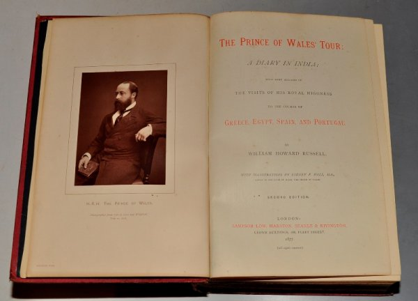 Image for The Prince of Wales' Tour: A Diary In India; With some account of the Visits of His Royal Highness to the Courts of Greece, Egypt, Spain, and Portugal. With illustrations by Sydney P.Hall.