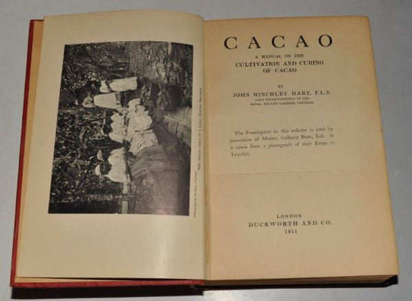 Image for Cacao, A Manual on the Cultivation and Curing of Cacao. Frontis of Cadbury Brother's Estate in Trinidad.