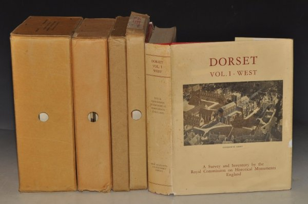Image for An Inventory of the Historical Monuments in the County of Dorset. 8 Volumes Complete: Vol.I West; Vol.II South, Parts 1, 2 & 3; Vol.III Central, Parts I & II; Vol.IV North; and Vol.V East. In original publisher's box cases.