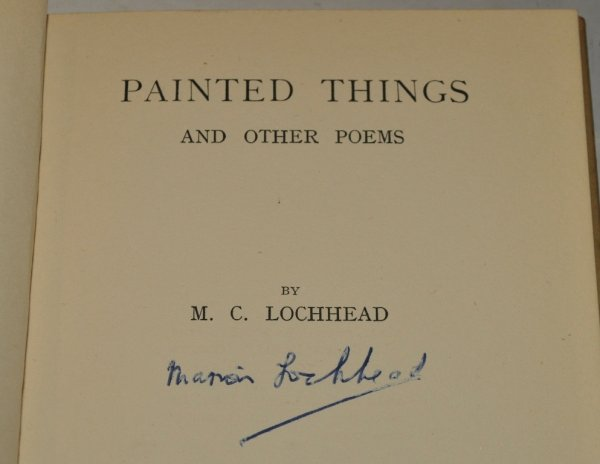 Image for Painted Things and Other Poems Signed.