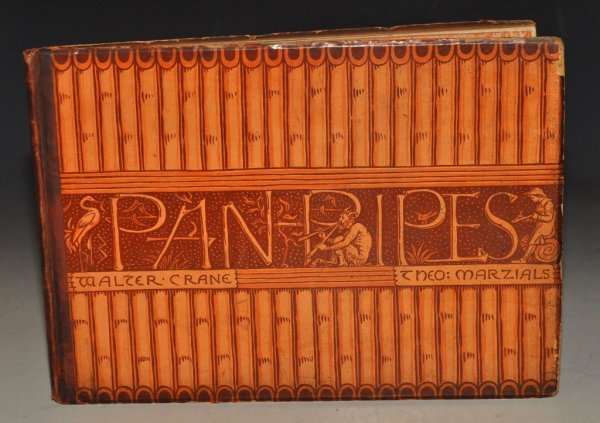 Image for Pan-Pipes. A Book of old Songs. Newly arranged & with accompaniments by T. Marzials. Set to Pictures by Walter Crane. Engraved and Printed in colours by Edmund Evans.
