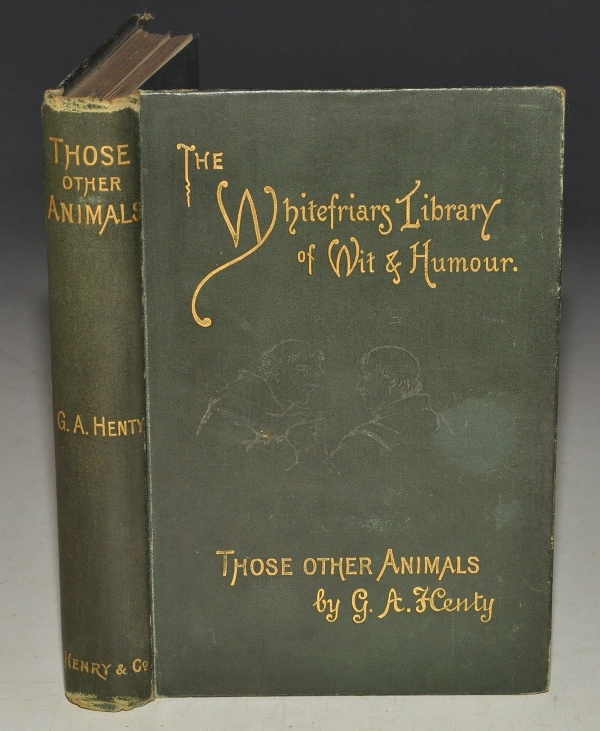 Image for Those Other Animals. With portrait of the author and twenty-two illustrations by Harrison Weir. The Whitefriars Library of Wit and Humour.