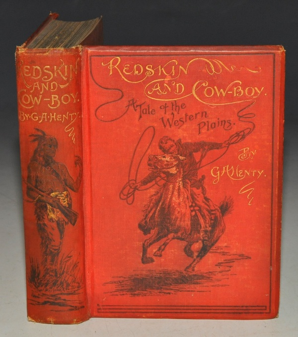 Image for Redskin and Cow-Boy. A Tale of the Western Plains. With twelve page illustrations by Alfred Pearse.