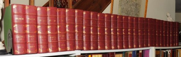 Image for Punch, or The London Charivari. Complete Set. Volumes 1 - 100. 1841 - 1891.  25 Volumes.