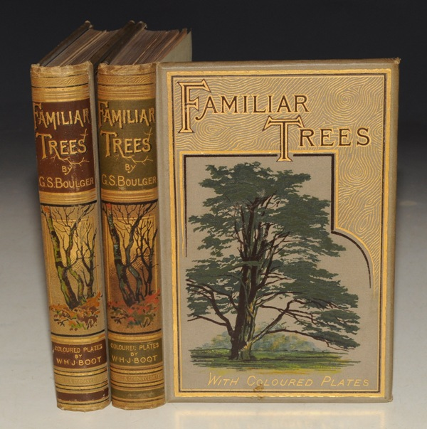 Image for Familiar Trees. Two volumes. With coloured plates by W. H. J. Boot. First and Second Series.