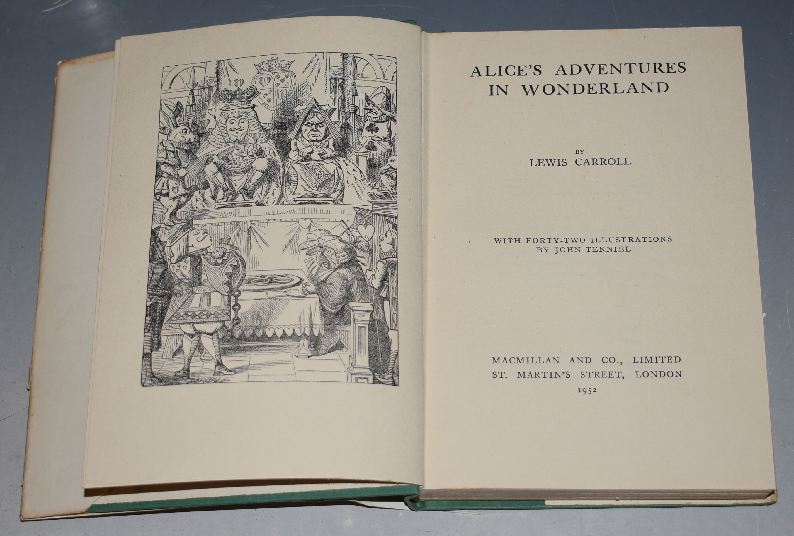 Image for Alice's Adventures in Wonderland & Through the Looking Glass. Two Volumes. With Dustwrappers. Illustrations by John Tenniel.