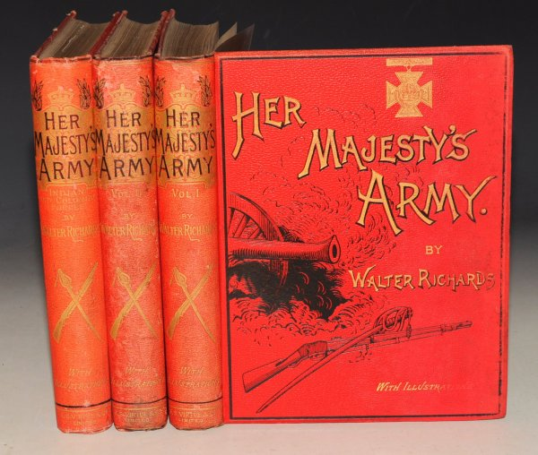 Image for Her Majesty's Army: Vols. 1 & 2. AND: Indian and Colonial Forces. A Descriptive Account of the Various Regiments now comprising the Queen's Forces , from their first Establishment to the Present Times, and in India and the Colonies. In Three Volumes.