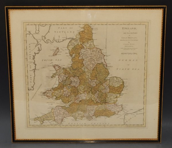 South Of England Map Uk.Map Of England Or The South Part Of Great Britain Divided Into Its