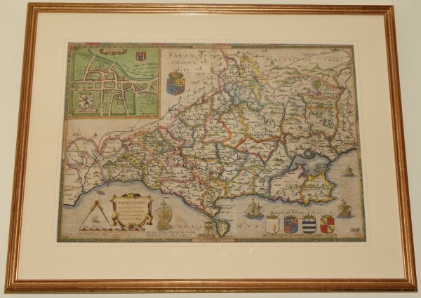 Image for AN ORIGINAL ENGRAVED MAP OF DORSET.