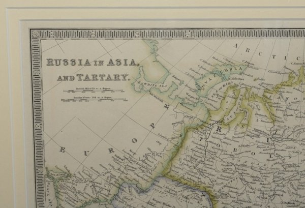 Image for Russia In Asia and Tartary Original hand-coloured engraved map.