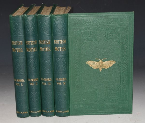 Image for A History of British Moths. Accurately delineating every known species, with the English as well as scientific names, accompanied by full descriptions, date of appearance, lists of the localities they haunt, their food in the caterpillar state, and other features of their habits and modes of existence, etc. Complete in Four Volumes. Containing nearly Two Thousand Exquisitely Coloured Specimens.