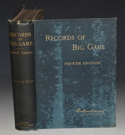 Image for Records of Big Game. With their Distribution, Characteristics, Dimensions, Weights, and Horn & Tusk Measurements of the Different Species. Fourth Edition.
