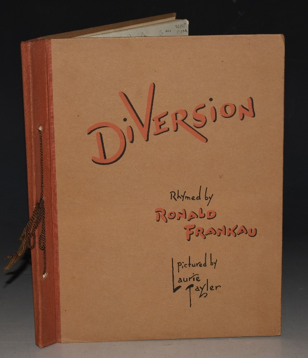 Image for Diversion Rhymed by Ronald Frankau. Pictured by Laurie Tayler.