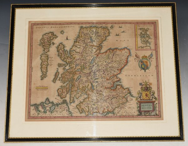"Image for Original Antique Engraved Hand-Coloured Map of ""Scotia Regnum"" Scotland"