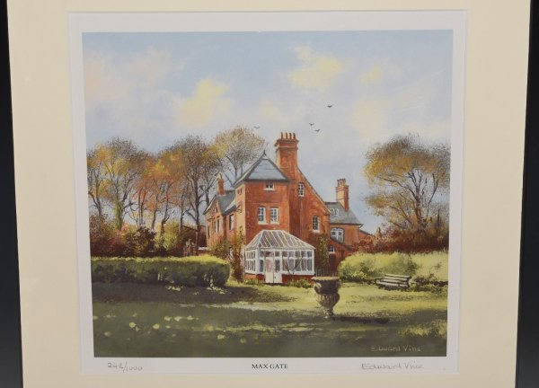 "Image for Signed Limited Edition Print of ""Max Gate"" Thomas Hardy's Residence, Dorchester Numbered 248/1000 and signed in pencil by Aritist."