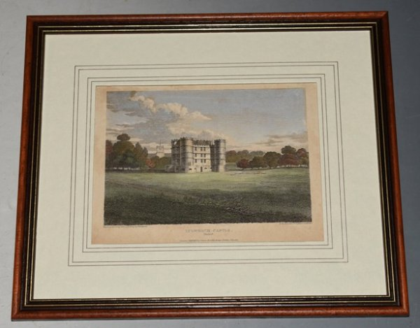Image for Original Hand Coloured Engraving of Lulworth Castle, Dorset Engraved by J. Greig from a drawing by Thompson, Published by Vernor, Hood & Sharpe, July 1811. For the Beauties of England and Wales.