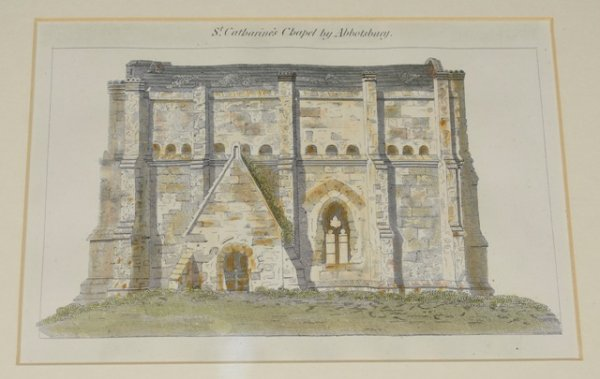 "Image for Original Hand Coloured Engraving of ""St. Catharine's Chapel by Abbostbury,"" Dorset"