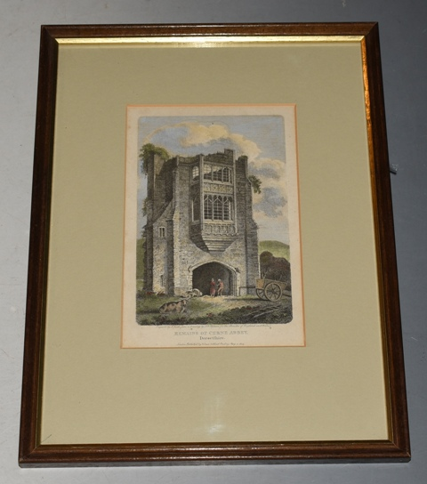Image for Original Hand Coloured Engraving of Remains of Cerne Abbey, Dorsetshire Engraved by J. Smith from a drawing by J.W. Upham, Published by Vernor & Hood, May 2 1803. For the Beauties of England and Wales.