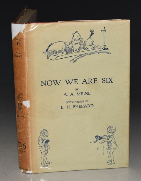 Image for Now We are Six. By A. A. Milne with Decorations by Ernest H. Shepard. First Edition With WRAPPER