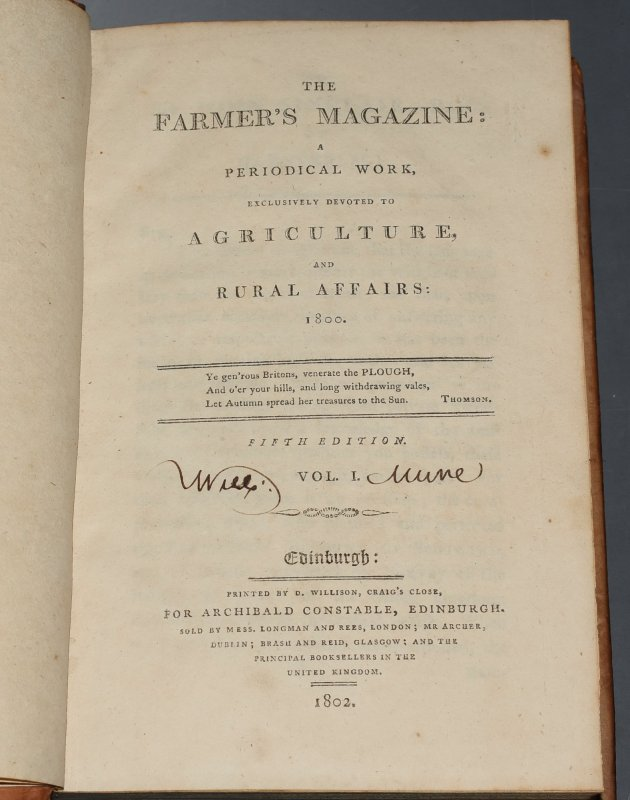 Image for The Farmer's Magazine 1800-1803 A Periodical Work, Exclusively Devoted to Agriculture, and Rural Affairs 1800 - 1803. In Four Volumes. The Fifth Edition.