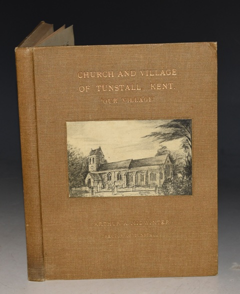 "Image for The Church and Village of Tunstall, Kent (""Our Village."") SIGNED + Authors Letter."