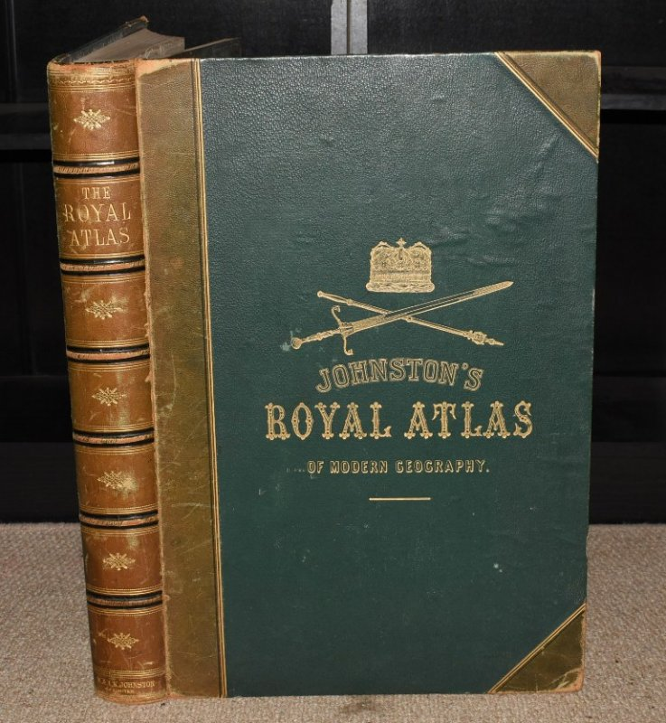 Image for Johnstone's Royal Atlas of Modern Geography. Exhibiting, in a series of sixty entirely original and authentic maps, the present condition of geographical discovery and research in the several Countries, Empires and States of the World. With a special index to each map.