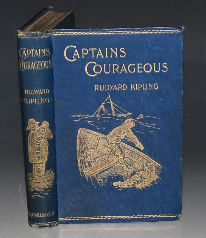 Image for Captains Courageous A Story of The Grand Banks. With Illustrations by I. W. Taber.