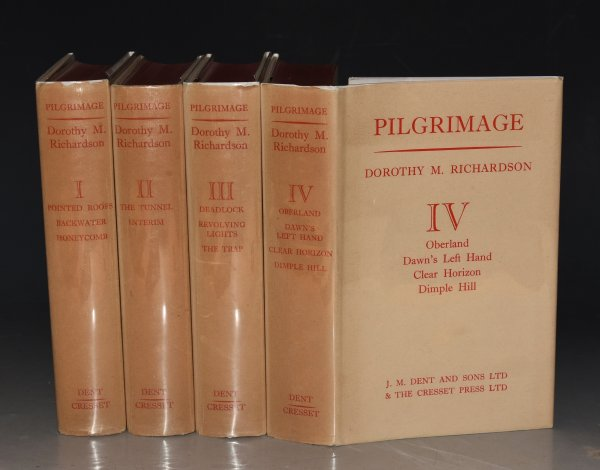 Image for Pilgrimage, Complete in Four Volumes. The Collected Edition: 1: Pointed Roofs, Backwater, Honeycomb. 2: The Tunnel, Interim. 3: Deadlock, Revolving Lights, The Trap. 4: Oberland, Dawn's Left Hand, Clear Horizon, Dimple Hill.