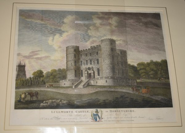 "Image for Attractive original copper-engraved large view of  ""LULWORTH CASTLE IN DORSETSHIRE"". The Seat of Thomas Weld, Esq.; From: HUTCHINS' ""History of Dorset"". 2nd. edition. Engraved by T. Fittler."
