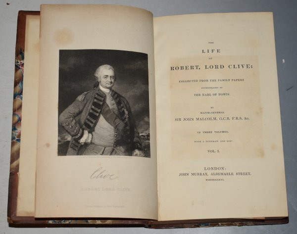 Image for The Life of Robert, Lord Clive: Collected from the Family Papers communicated by The Earl Powis. With a Portrait and Map. In Three Volumes.
