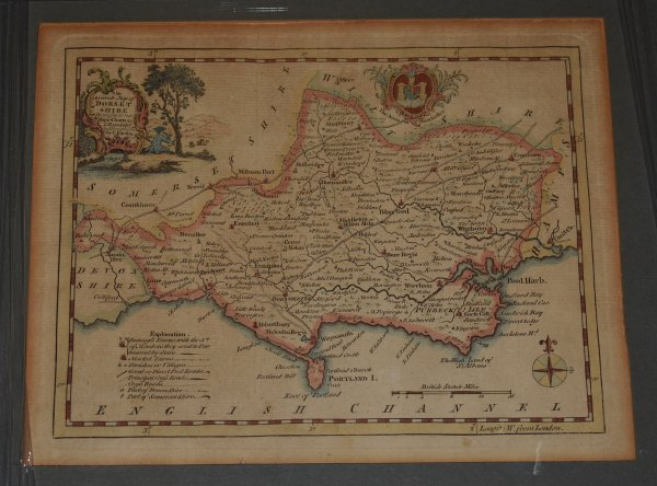 Image for Antique Hand Coloured Engraved Map of Dorsetshire An Accurate Map of Dorsetshire, Drawn from the Best Maps and Charts etc.