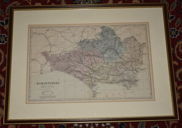 "Image for Engraved hand coloured map ""Dorsetshire"" Reduced from the Ordnance Survey, Divided into 5 Mile Squares."