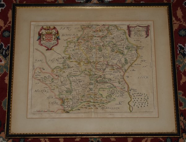"Image for Engraved Hand-Coloured Map ""A Mapp of Hartfordshire, with it's Hundreds"" Hertfordshire. ""To The Right. Hon. James Cecill, Earle of Salisbury &c. this mapp is humble dedicated."""