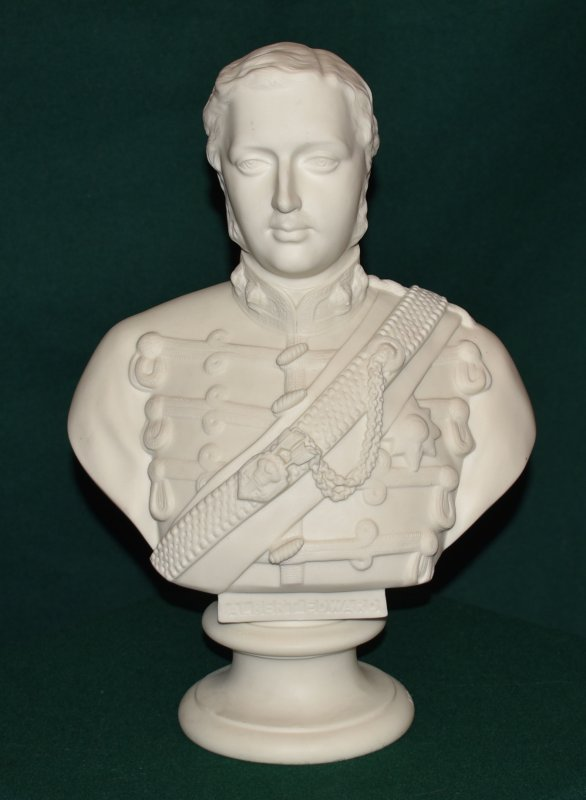 Image for Large Parian Bust of Edward Prince of Wales (in regimental uniform)