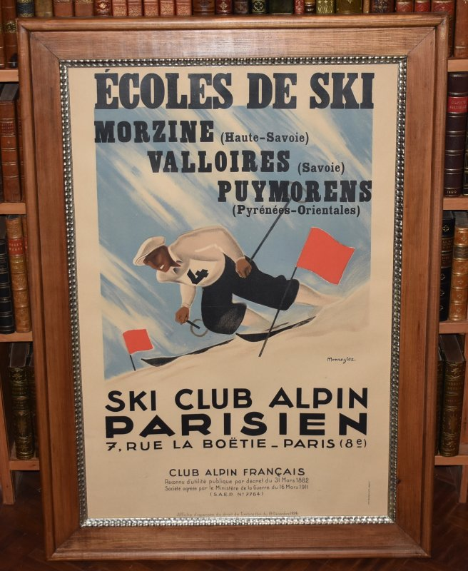 Image for ECOLES DE SKI SPORTS ADVERTISING POSTER