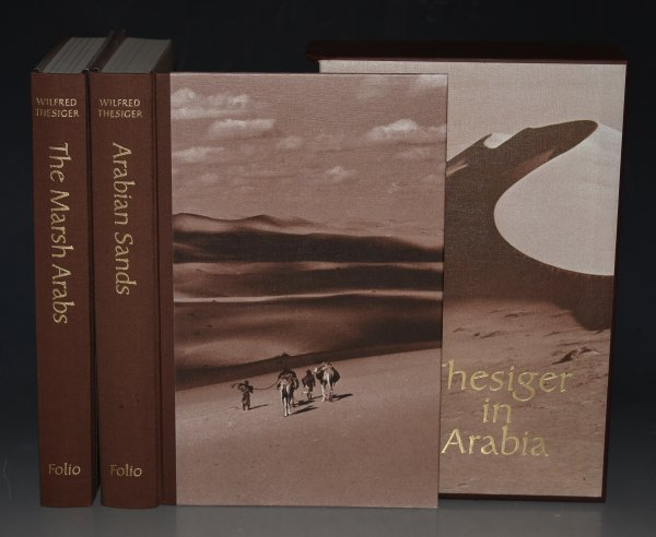 Image for Thesiger in Arabia; The Marsh Arabs and Arabian Sands. Two Volumes in Slipcase.