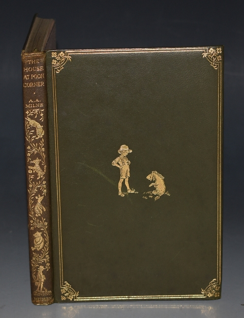Image for The House at Pooh Corner. With Decorations by Ernest H. Shepard. First Edition in Deluxe Leather Binding.