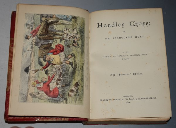 "Image for ""The Jorrocks Edition"" Five Volume Set Handley Cross; Mr. Facey Romford's Hounds; Hawbuck Grange; Sponge's Sporting Tour; Ask Mama. Illustrated by John Leech. In Five Volumes."