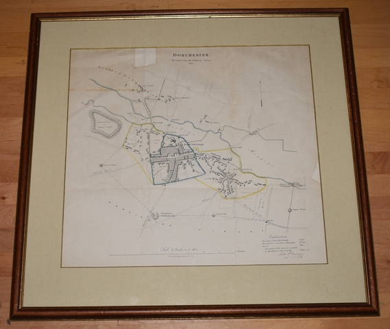 Image for Attractive original engraved TOWN PLAN of DORCHESTER. Scale 8 Inches to 1 Mile