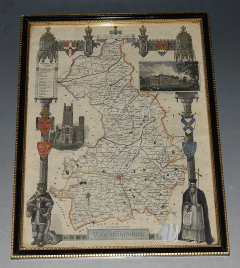 Image for Cambridgeshire. Map of Cambridgeshire showing towns, villages, roads and railways.